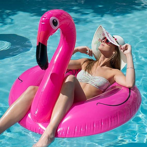 Flotador Hinchable XXL Flamingo flamenco: Amazon.es: Jardín