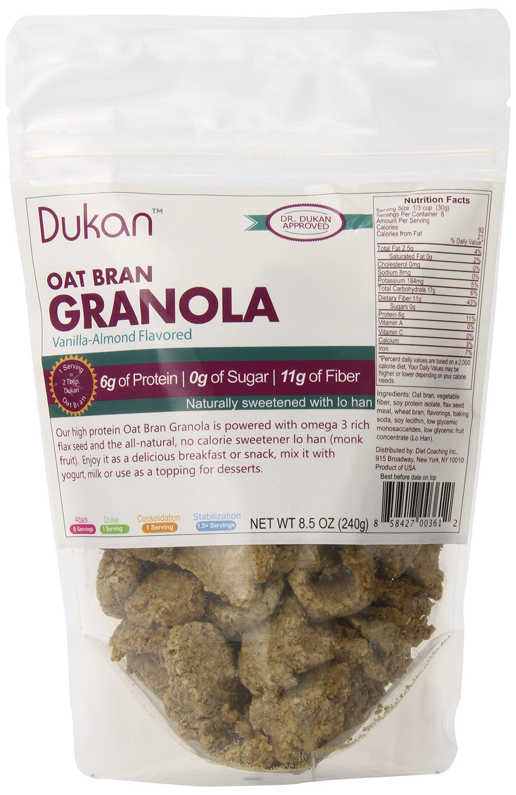 Dukan Diet Vanilla Almond Oat Bran Granola, 8.5 Ounce by Dukan Diet