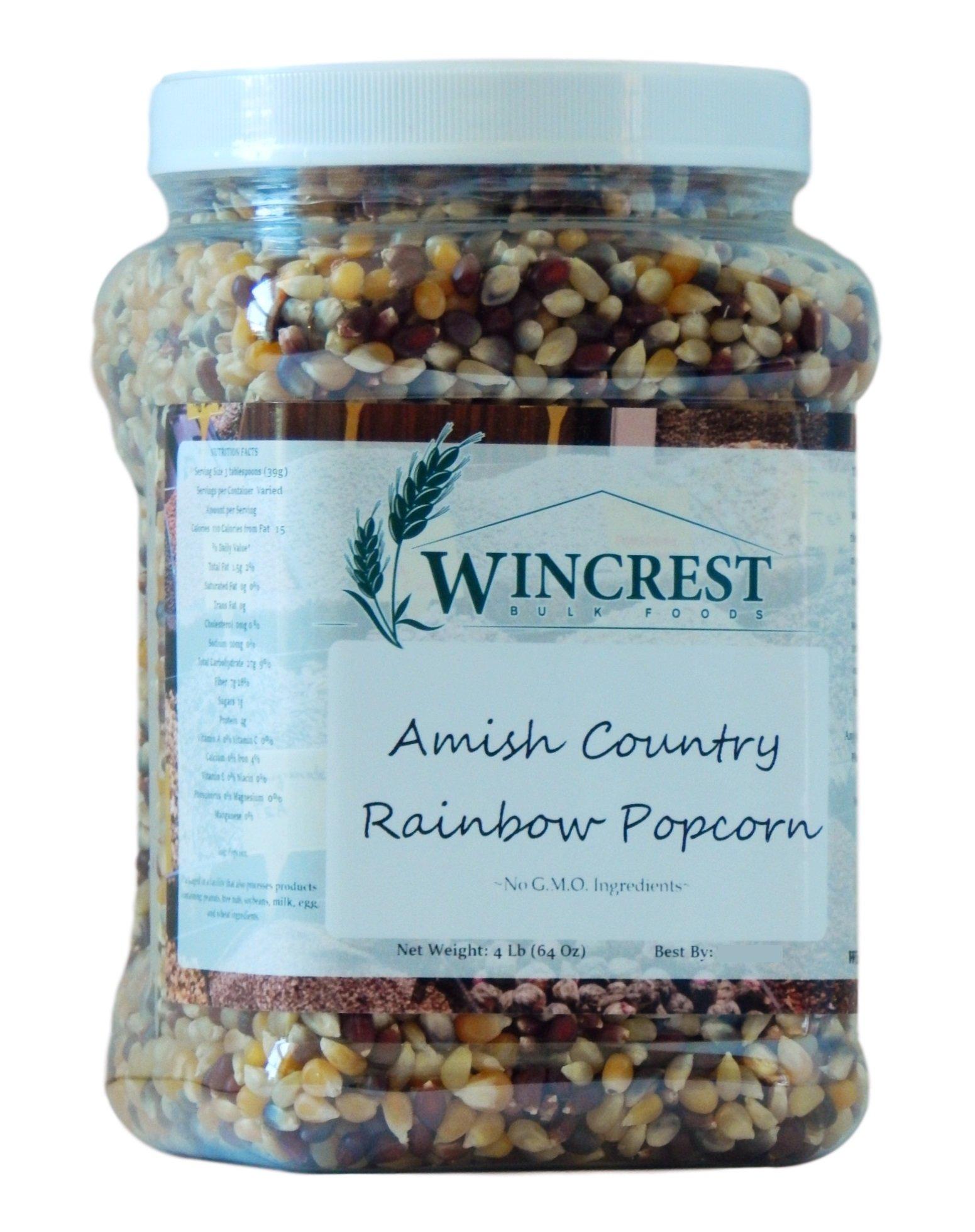 Rainbow Popcorn - 4 Lb Tub (Non GMO) by WinCrest BulkFoods