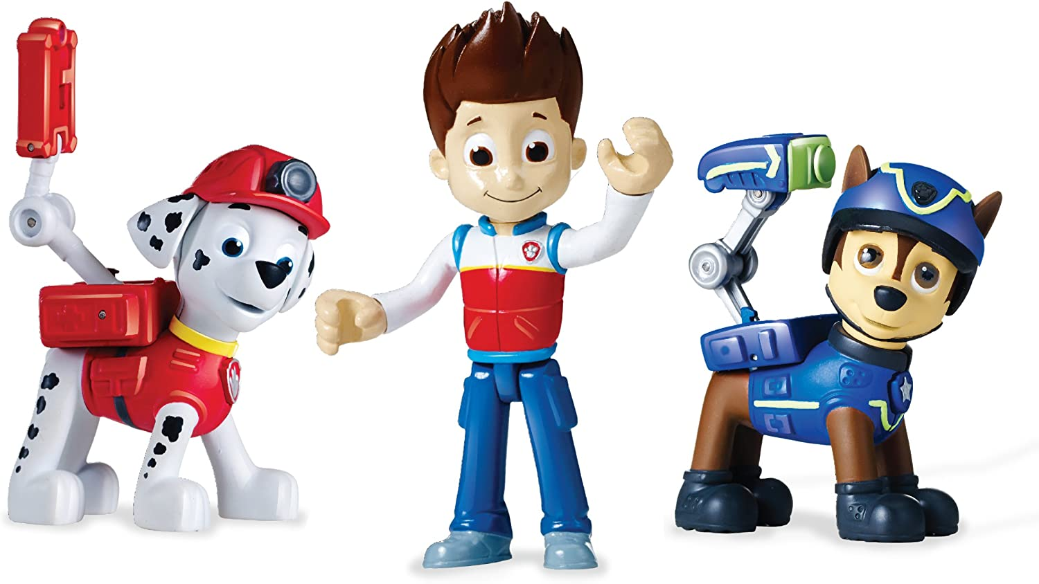 Chase /& Marshall New Ryder Paw Patrol Action Pack pups figure set 3 Pack