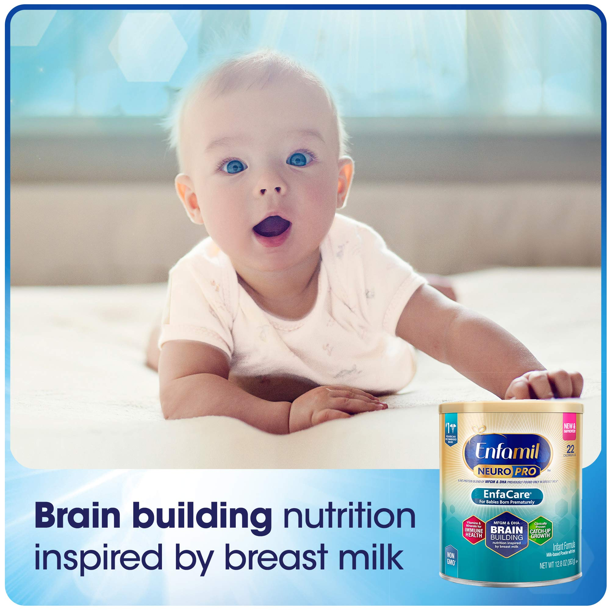 Enfamil NeuroPro EnfaCare Infant Formula - Brain Building Nutrition with Clinically Proven Growth Benefits for Premature Babies - Powder Can, 12.8 oz (Pack of 6) by Enfamil (Image #7)