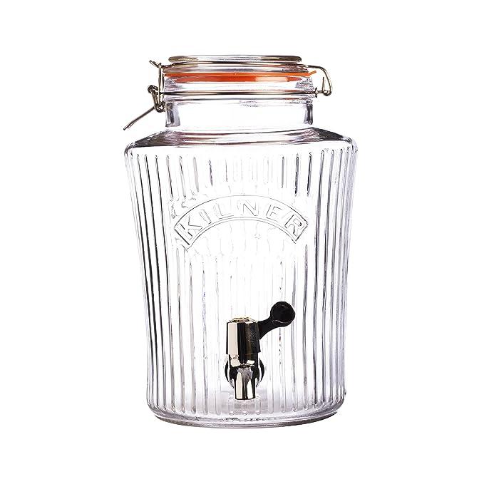 KILNER Dispensador de Bebida, Vidrio, Transparente, 8 litros: Amazon.es: Hogar
