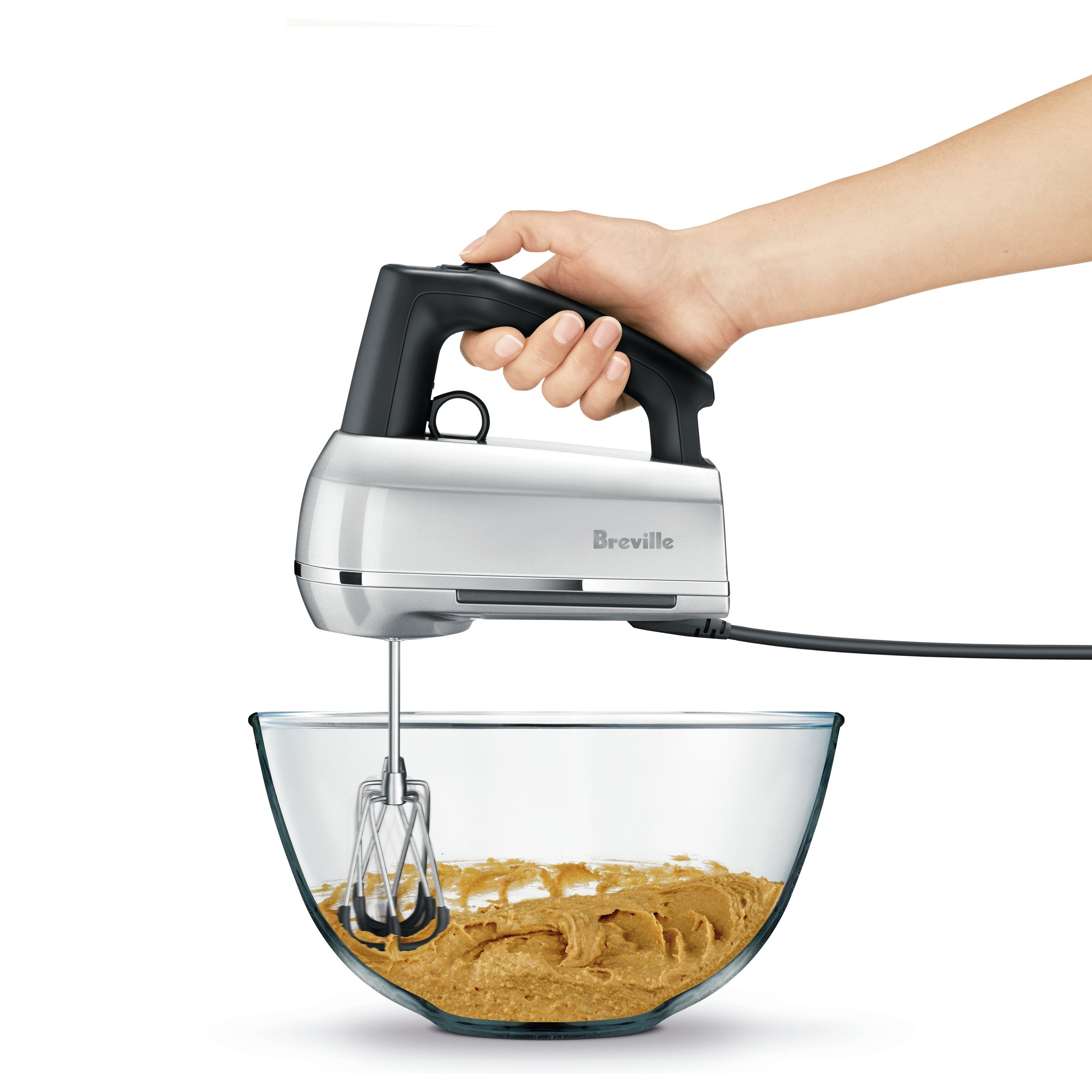 Breville BHM800SIL Handy Mix Scraper Hand Mixer, Silver by Breville (Image #1)