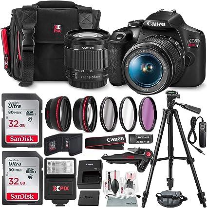 Amazon.com: Canon T7 EOS Rebel Cámara réflex con EF-S 0.709 ...
