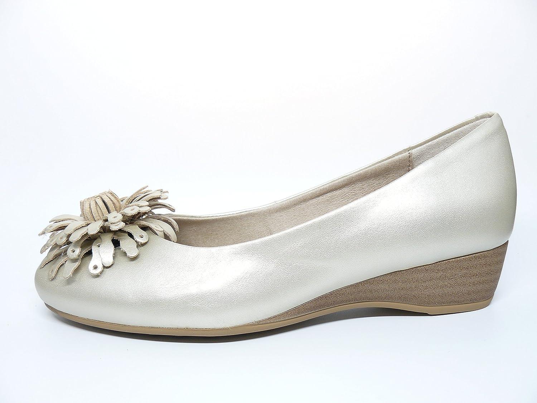 Mujer En Cuña Piel Oro Color La De Marca Manoletina Zapato Pitillos Uq0OHdd