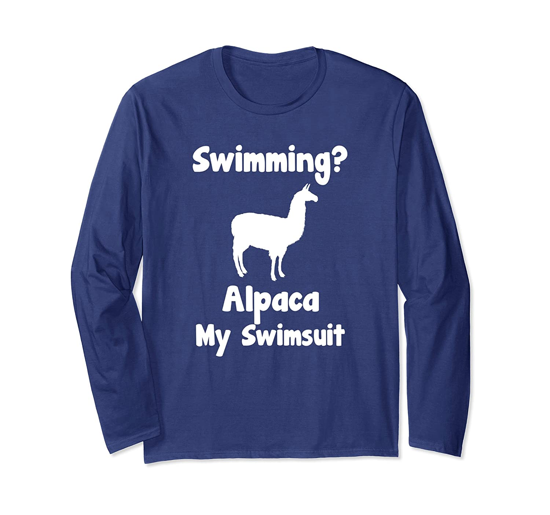 A Road Trip Alpaca I'll Pack My Swimsuit Pool Beach T-Shirt-TH