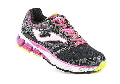 JOMA R.Titanium Lady 601 Negro-Fucsia - Zapatillas para Correr para Mujer,