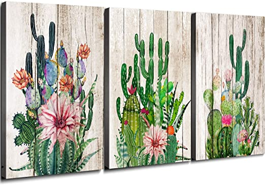 Canvas Plants Cactus Painting Home Office Wall Room Picture Decor Art Modern