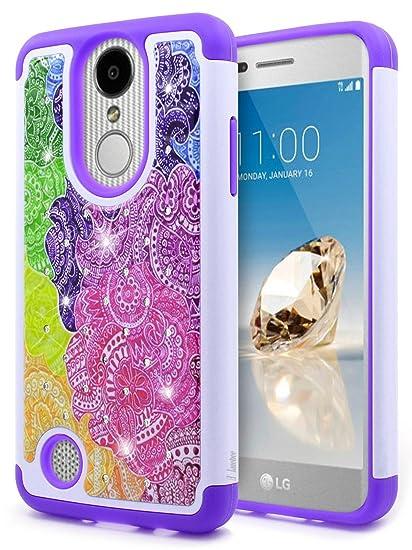 LG Aristo Case, LG K8 2017 /Phoenix 3 /Fortune/Rebel 2 LTE/Risio 2 /K4 2017  Case, NageBee [Glitter Diamond] Studded Rhinestone Sparkle Shiny Bling