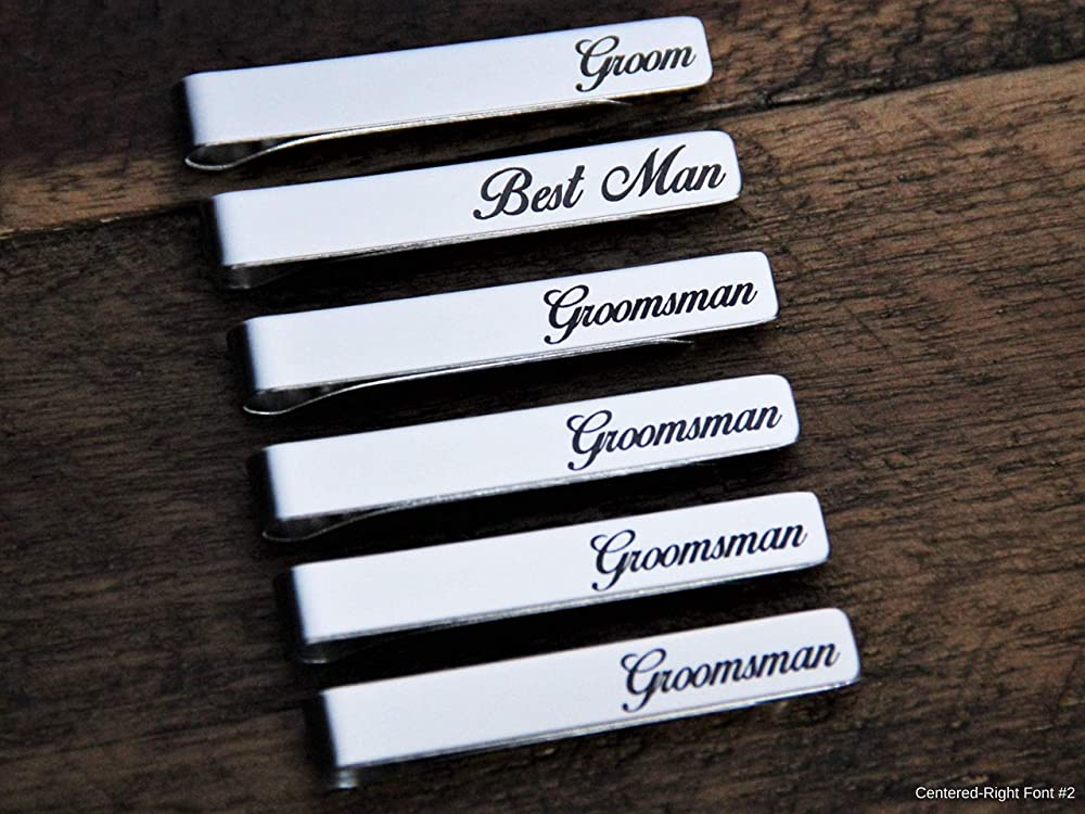 Wedding Child/'s Drawing,Father/'s Day Gift Actual Handwriting Team Groom Tie Bar Personalized Groomsmen Gift. Tie Clip Mens