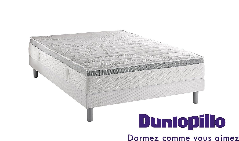 Dunlopillo 1055799Gemeinsam Matratze Mirage + Lattenrost dunlosom + Füße Zylindrische Farbe Aluminium 200x 120x 38cm