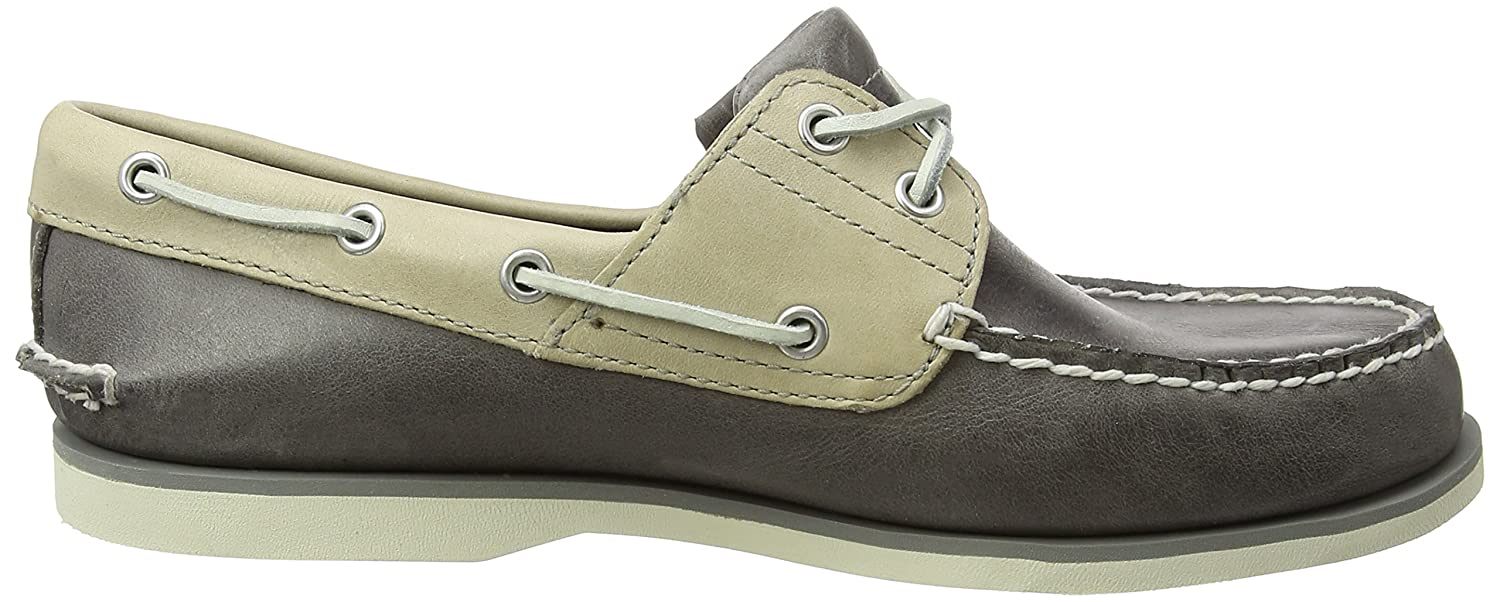 Mens Classic Boat 2 Eyerubber Chaos W/Croissant Mystic Shoes, Medium Brown Full Grain Timberland