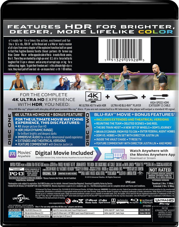 Amazon.com: Fast Five [Blu-ray]: Vin Diesel, Paul Walker ...