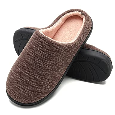 b87a40b9737 FLY HAWK Slippers Men s Comfort Memory Foam House Slippers