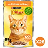 Purina Friskies Chicken Chunks In Gravy Wet Cat Food Pouch 85g (26 Pouches)