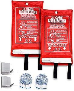 JJ CARE Fire Blanket Fire Suppression Blanket, 40