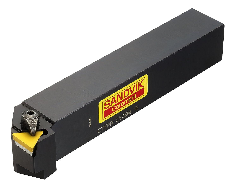 2 Clamp 16mm Width x 16mm Height Shank External Square Shank 100mm Length x 20mm Width TP Right Hand Steel Insert Size Sandvik Coromant CTFPR 1616H 11 Turning Insert Holder
