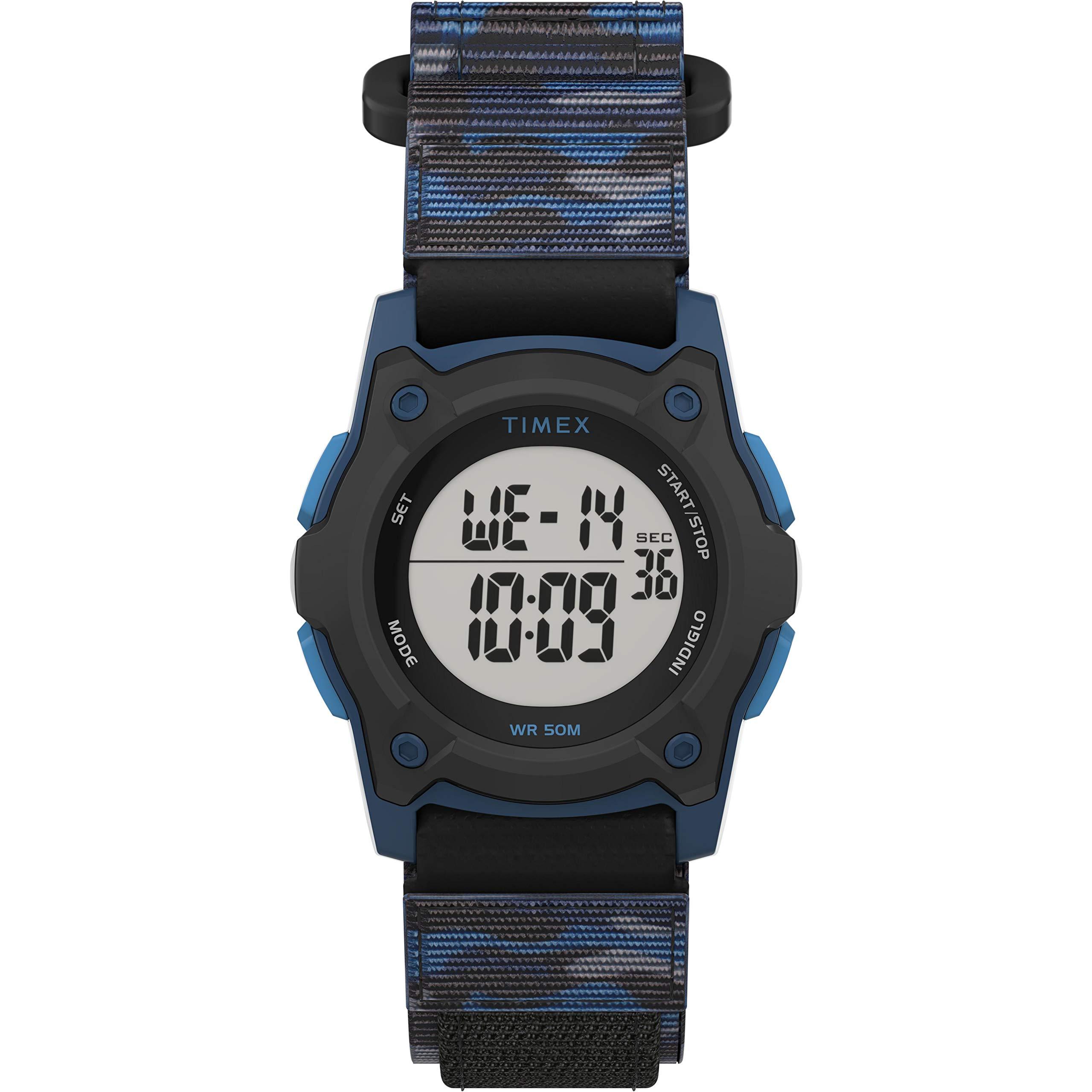Timex Boys' Time Machines Digital Quartz Nylon Strap, Black, 18 Casual Watch (Model: TW7C774009J) by Timex