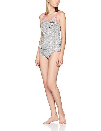 Minkpink Chip On Your Shoulder Set, Conjuntos de Pijama para Mujer, Gris Grey,