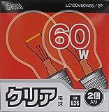 オーム電機 白熱電球 クリア電球 LC100V60W55/2P LC100V60W55/2P