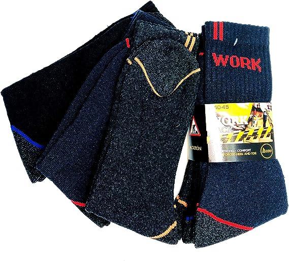Penetra Moda Calcetines de trabajo seguridad ideal para el uso de seguridad y para deportes de invierno o situaciones de fr/ío y humado larga fibras anti rozaduras
