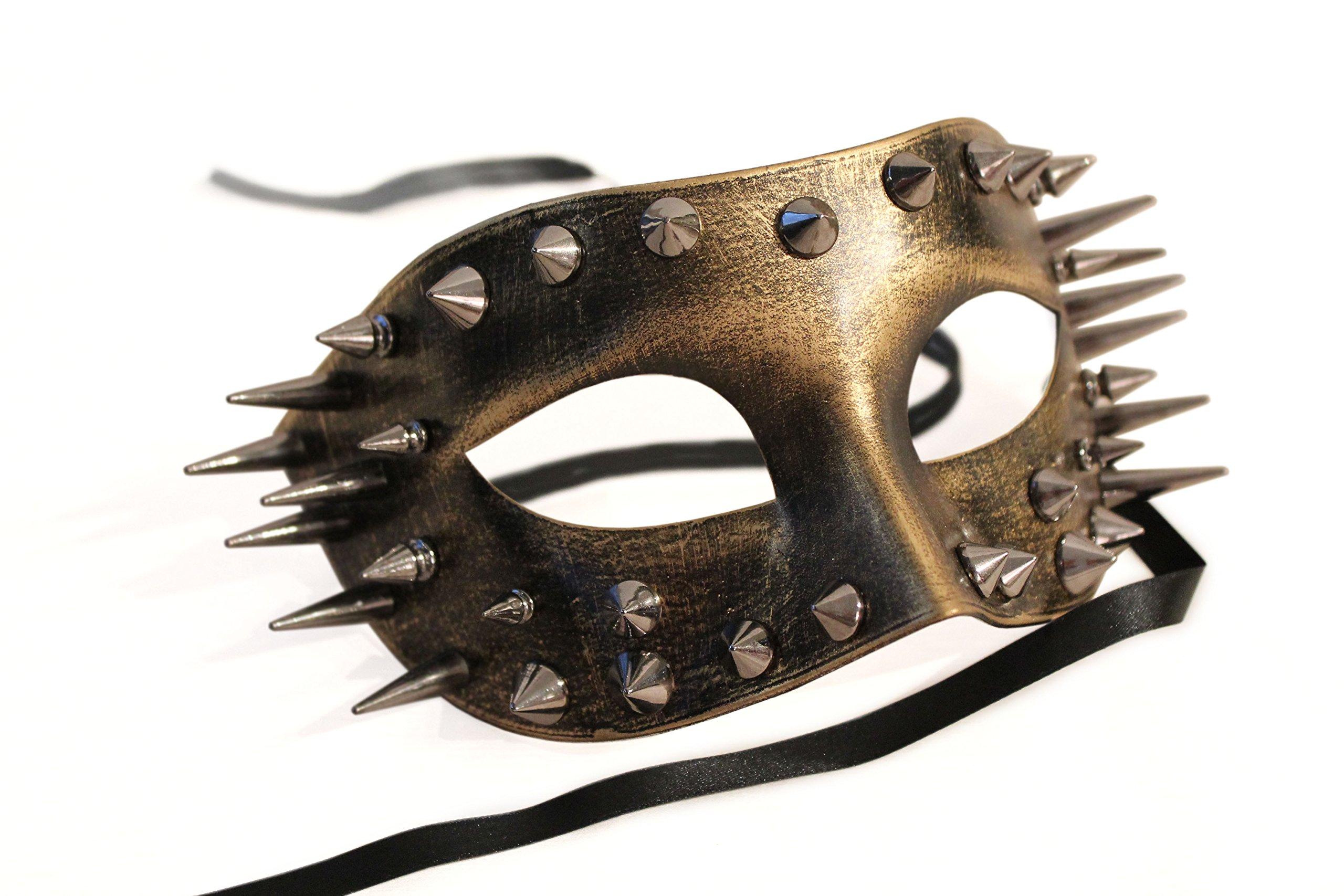 Thunder Market Roman Warrior Venetian Masquerade Costume Mask, Gold