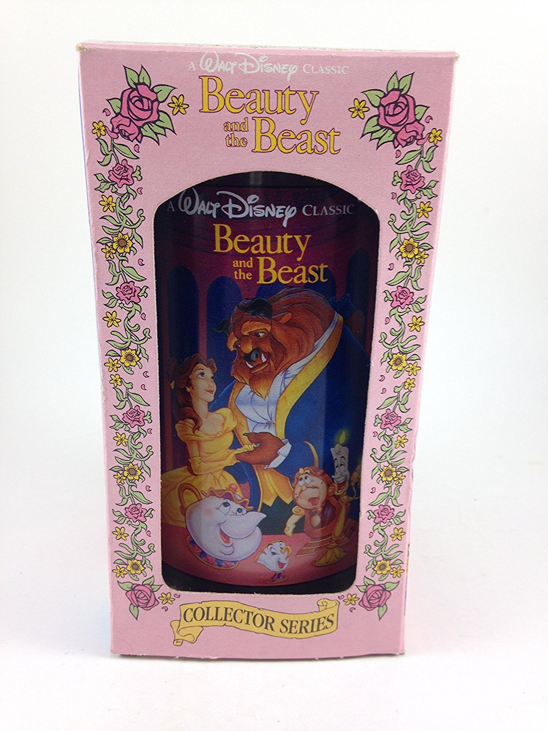 "BURGER KING 1994 COLLECTOR GLASS, BEAUTY & THE BEAST by Burger King,Multicolored3"" x 5-1/2"""