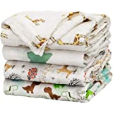 Baby Swaddle Blanket Upsimples Unisex Swaddle Wrap Soft Silky Bamboo Muslin Swaddle Blankets Neutral Receiving Blanket for Bo