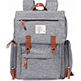 Diaper Bag Backpack Frank Mully Large Multifunction Travel Baby Bag for Mom Dad Gray