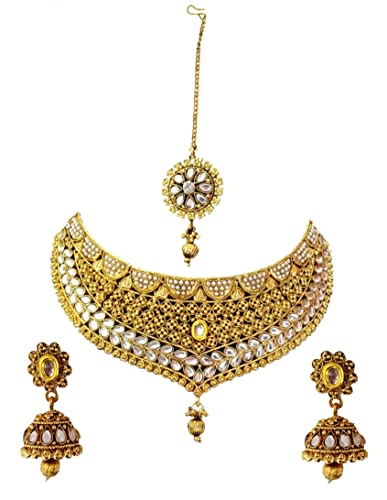 6947ebca77 Buy NMJ Gold Plated Artificial Kundan Jewellery Set For Women Online ...
