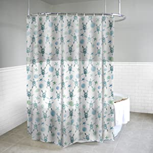 Splash Home Peva 4G Sea Turtles Curtain Liner Design for Bathroom Showers and Bathtubs Free of PVC Chlorine and Chemical Smell-Eco-Friendly-100% Waterproof, 70 x 72, Mint
