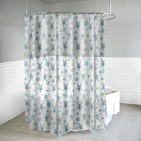Shower Curtain Beach Curtain Anti Mould Digital Print Bathroom Bathtub