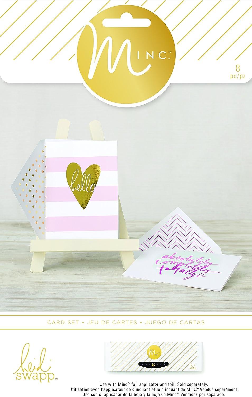 Hello Stripes American Crafts 8 Piece Heidi Swapp Minc Card Set