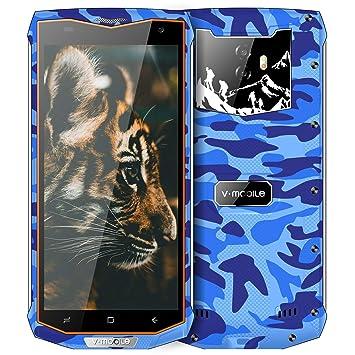 Resistente Smartphone Libres V Mobile V66 32GB ROM 3GB RAM IP67 Impermeable Antipolvo Moviles Libres Baratos 5.5 3G+ Batería 6500mAh Android 7 Quad ...