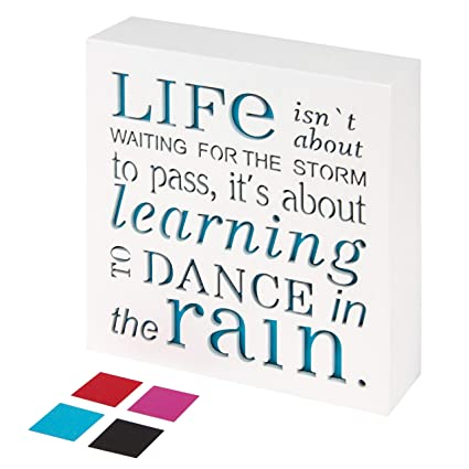 Amazon Com Kauza Dance In The Rain Home Decor Signs Decorative
