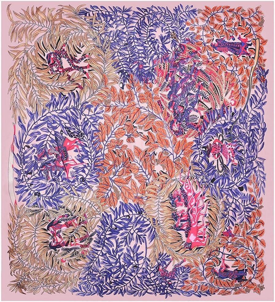 Couleur : Marine-90x90cm /Écharpe de mode Grand foulard carr/é pour femme Grand foulard ch/âle Foulard en soie Hijab Foulard en soie satin/ée de qualit/é sup/érieure