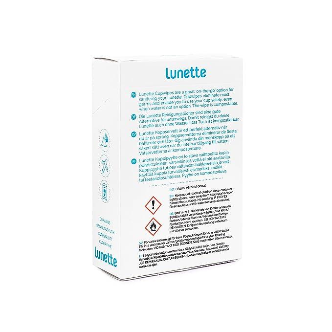 Lunette copa menstrual - Starter Kit - Copa y toallitas: Amazon.es: Salud y cuidado personal