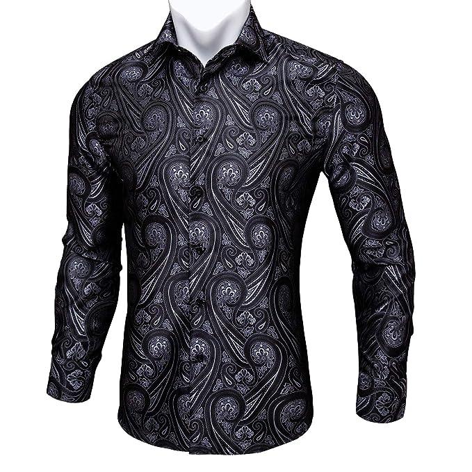 Amazon.com: Barry.Wang Camisas para hombre, diseño de ...