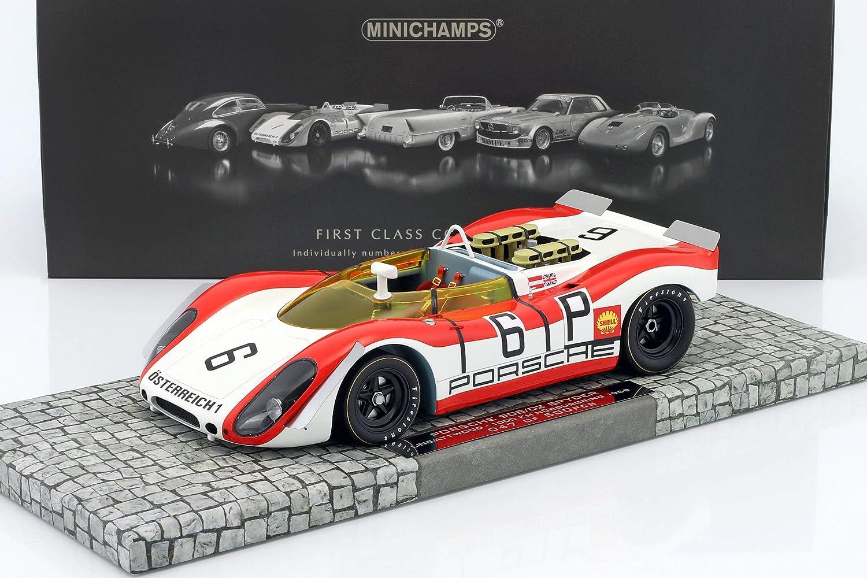 Minichamps – 107692006 – Porsche 908/02 Spider – Läppen 1000 Km Nürburgring 1969 – Echelle 1/18 – Weiß/Rot