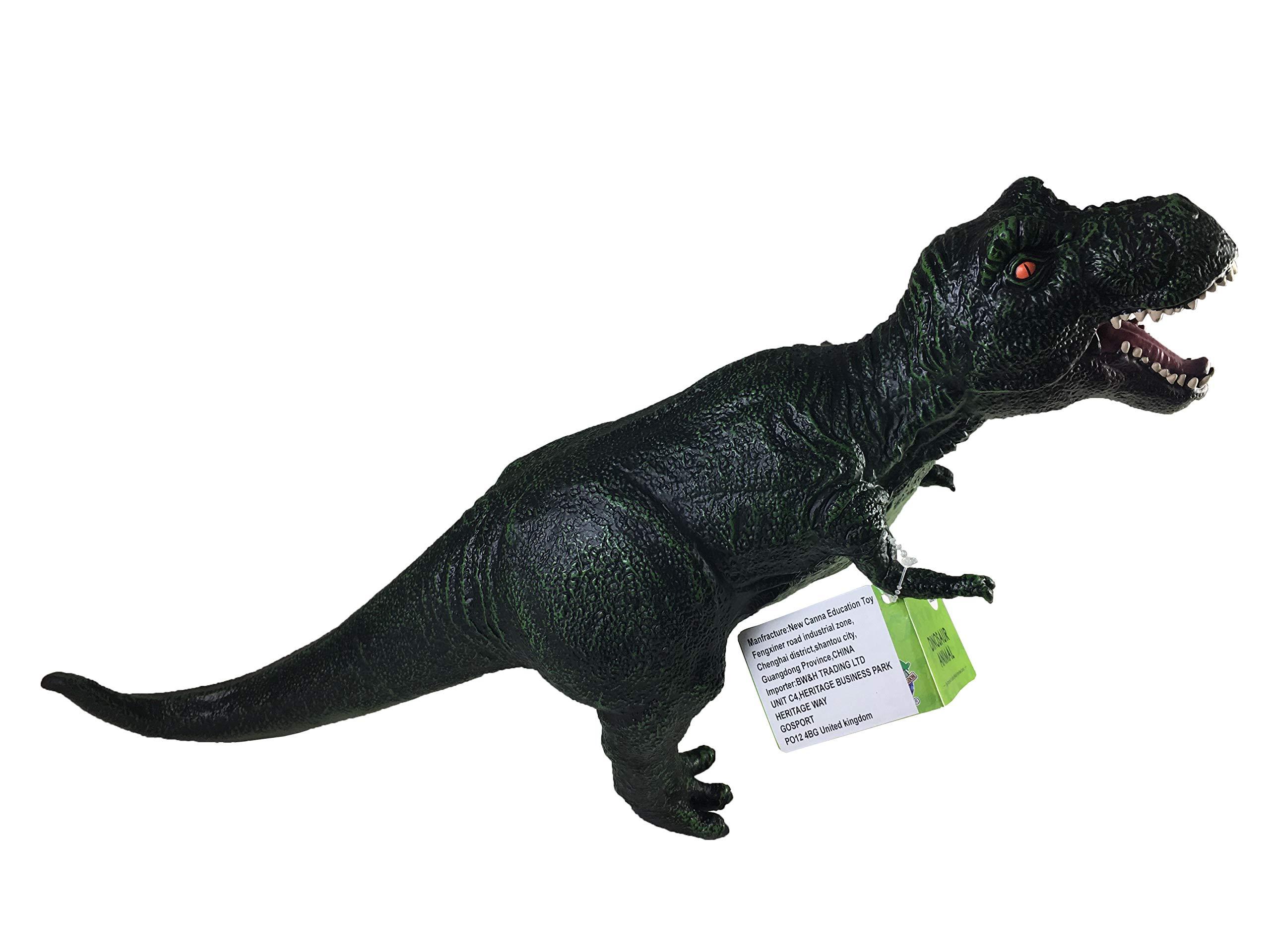 "BW & H Large 21"" (54cm) Soft Stuffed Rubber Dinosaur Toy T-Rex Tyrannosaurus"