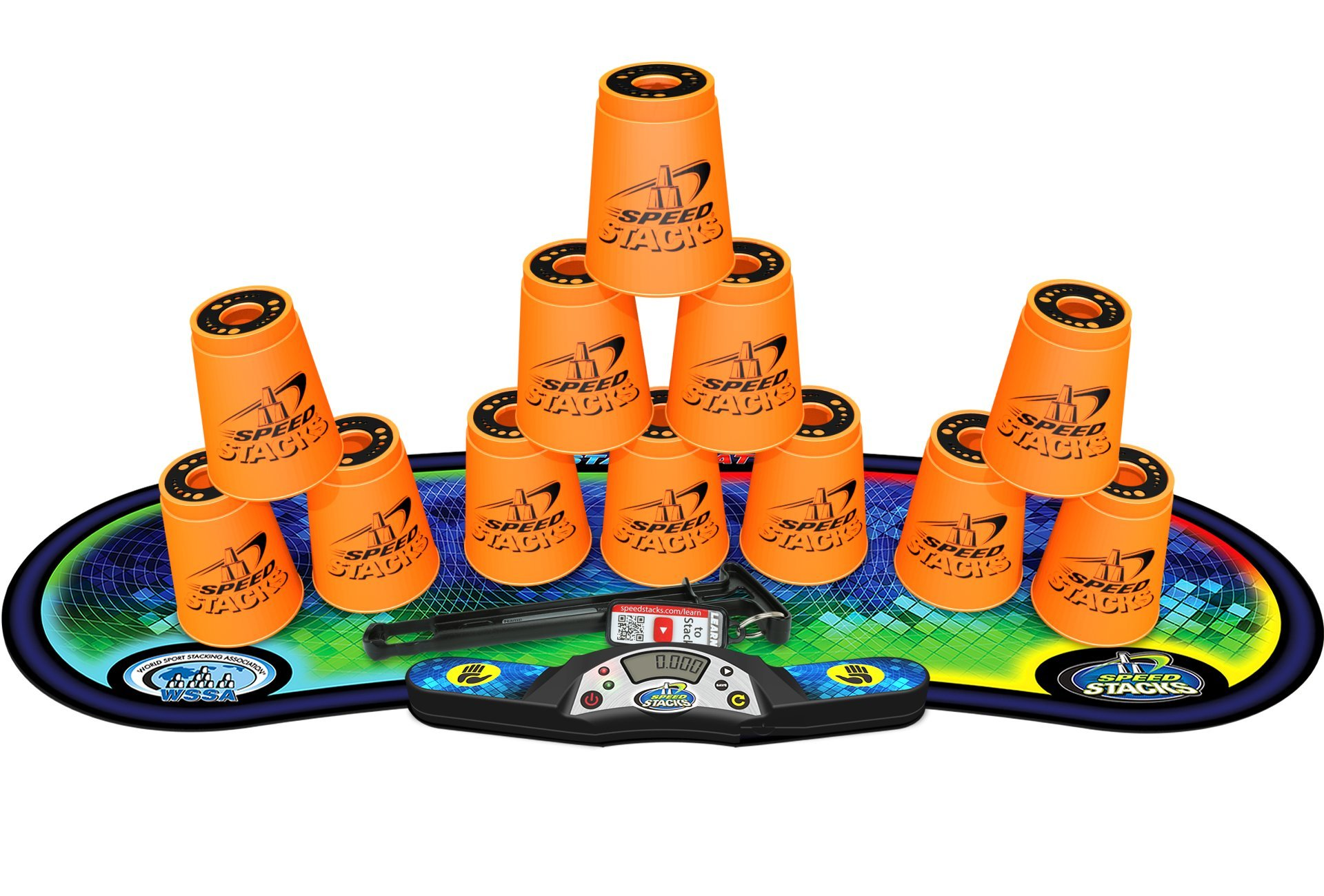 Speed Stacks Competitor - Neon Orange w/ Voxel Glow Mat