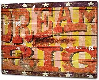 LEotiE SINCE 2004 Targhe Cartello Targa in Metallo Decorazione della Parete 30x40 cm Proverbi M.A. Allen Sogno Big