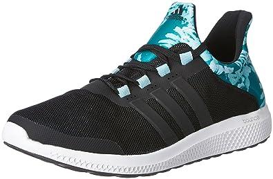 adidas donne cc sonic w nero e verde delle scarpe da corsa, 10 uk