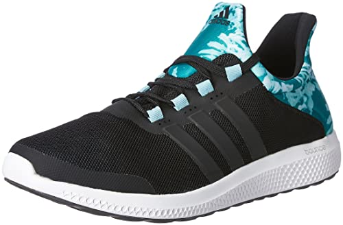 ef869c1a9 Adidas Women s Cc Sonic W Black and Green Mesh Running Shoes - 10 UK ...