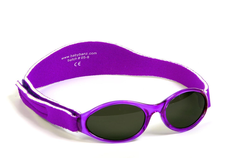 Baby Gift Pack Sunglasses case Pink Hippopotamus and BabyBanz Purple Sunglasses 0-2 Years Combo 0202/hippo-01A/PU