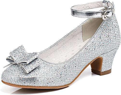 Girl/'s Wedding Party Glitter Dress Dance Shoes Toddler Little Girls w// Pump