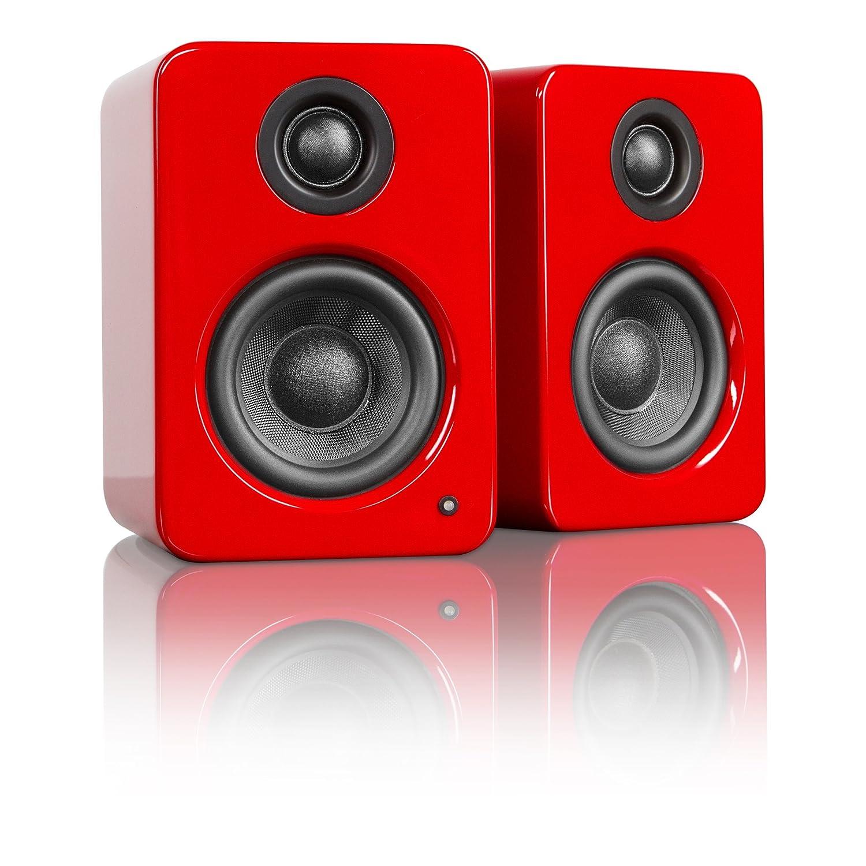 Kanto YU2 altavoces de escritorio de dos vías (Rojo Brillante)