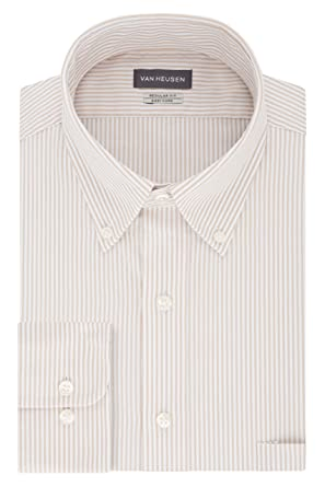 a41cf78c5c1 Van Heusen Men s Pinpoint Regular Fit Stripe Button Down Collar Dress Shirt  at Amazon Men s Clothing store  Dress Shirts