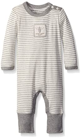 Amazon Com Burt S Bees Baby Organic Stripe Snap Front Coverall