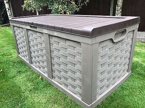 Starplast Aufbewahrungsbox Mit Kolben Deckel Jumbo Xxl Rattan Stil Draussen Garten K Vollstandig Wasserdicht Amazon De Kuche Haushalt